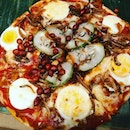 Keong Saik Bakery latest Nasi Lemak Pizza comes with mushroom soup and bread.