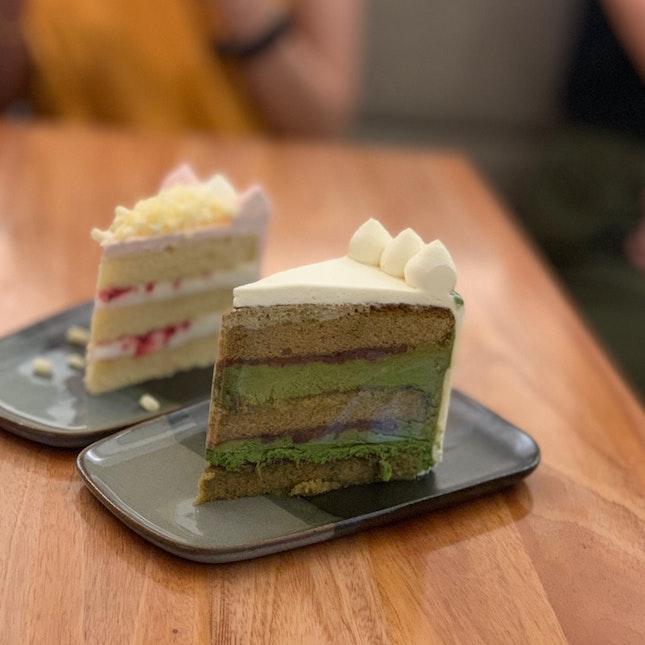 Le Oom ($9) Yuzu Raspberry Cake ($9)