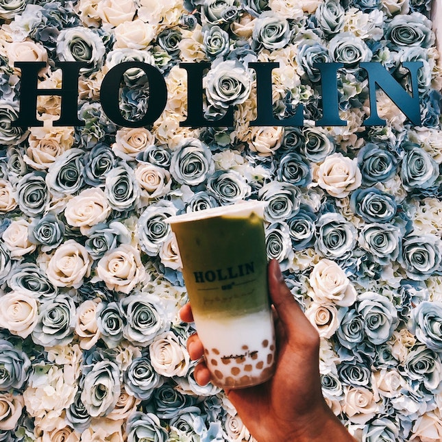 Matcha Latte With Honey Pearls ($4.90)