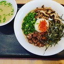 Otoko Mazesoba (M size) 😍 ($13.90++): The mazesoba has a fragrant truffle taste with free flow hard boiled eggs and a suite of condiments such as sesame and fragrant fried garlic bits.
