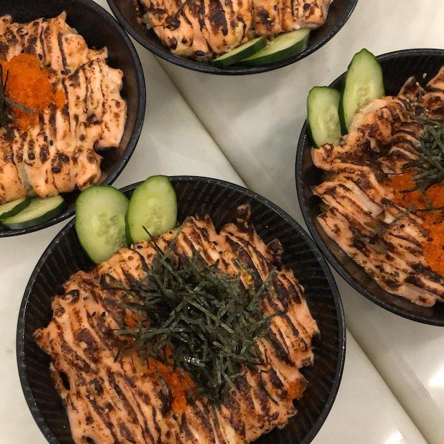 salmon mentaiko bowl small ~$10 after burpple beyond