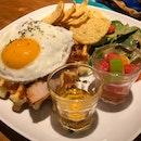 Jalapeño beef ragu grilled waffle sandwich $18+