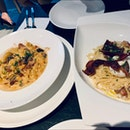 Carbonara and Mac and Cheese $17 each