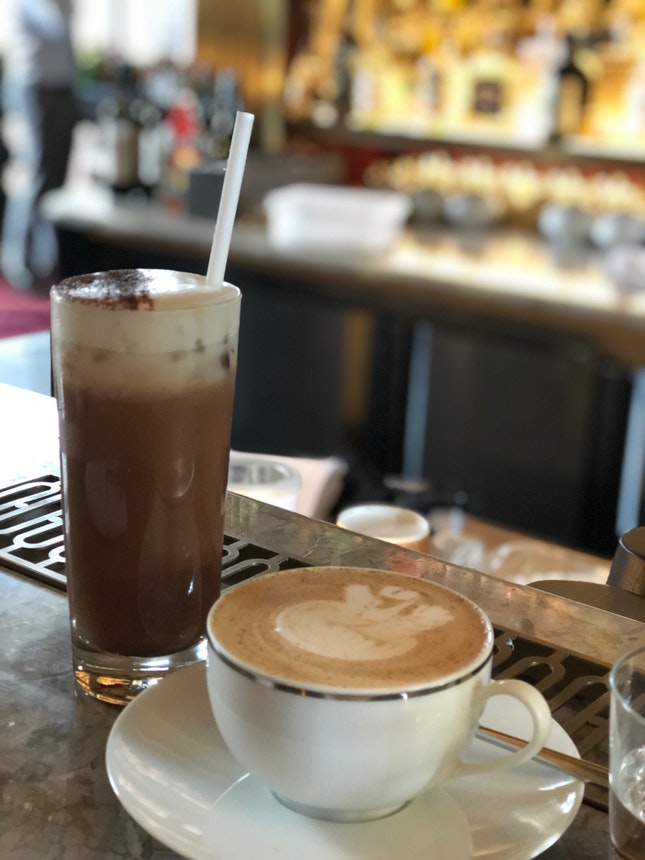 Spice Chai Latte and Iced Mocha