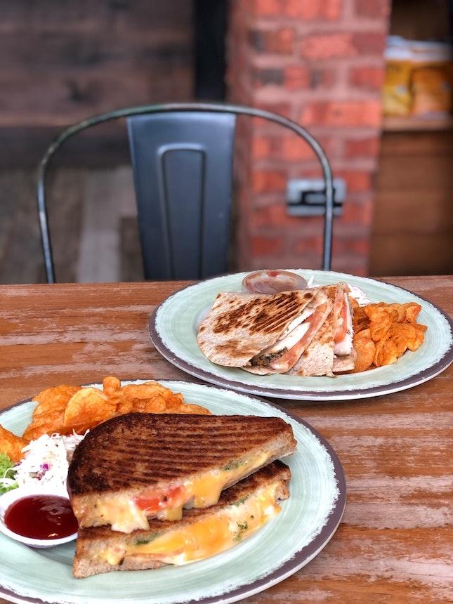 Grilled Cheese Sandwich $9.5 Chicken Quesadilla $9.5