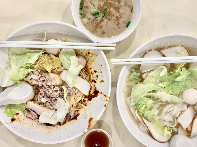 Mee Pok ($4) & Fishball Noodles ($4)