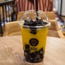 Mango with Grass Jelly