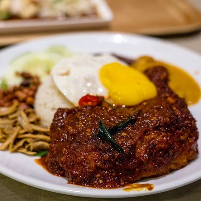 Nasi Lemak Ayam Masak Merah
