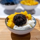 Mango in Vanilla Snow Ice with Thai Black Glutinous Rice