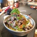 [📍Beef Sukiyaki don Keisuke, Singapore] Tucked in a corner of ONZE Tanjong Pagar, Beef sukiya don keisuke offers an affordable and of quality japanese don.
