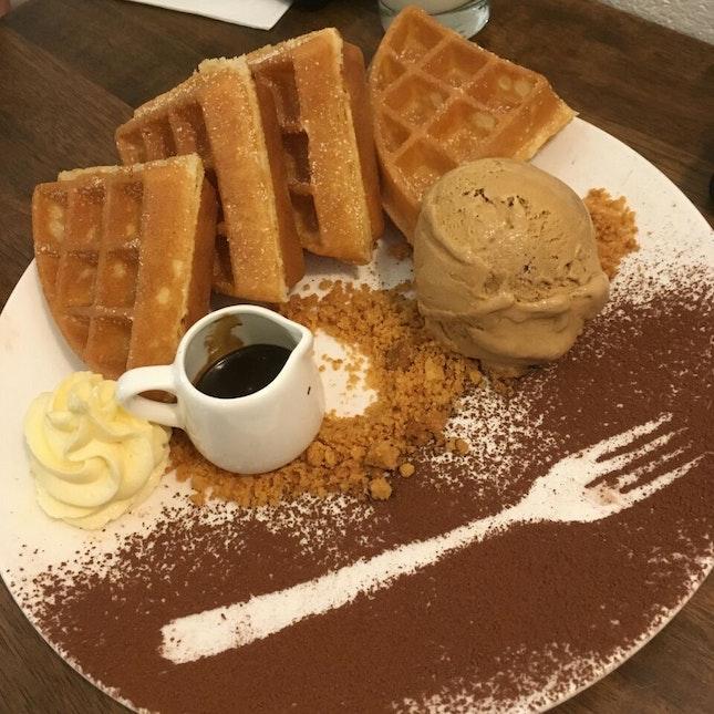 Deconstructed Tiramisu Waffle
