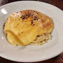 Spaghetti with Sea Urchin Carbonara ($26)