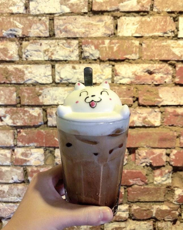 3D latte Mocha ($8.50++)