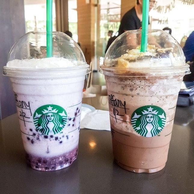 Acai Mixed Berry / Banana Split Mocha Frappuccino