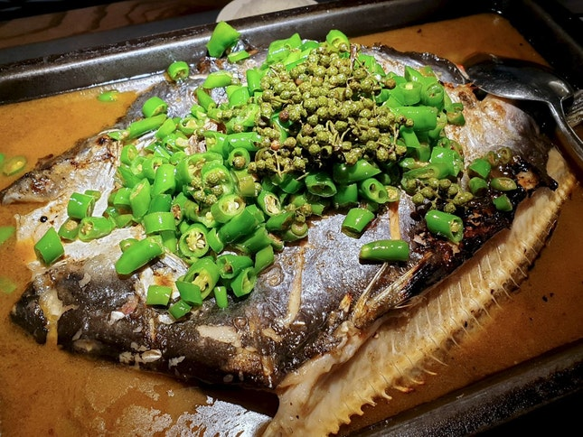 Grilled Fish with Green Pepper 鲜青椒烤鱼
