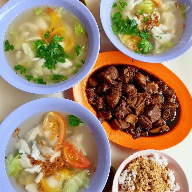 Fresh Mackeral Soup & Braised Duck