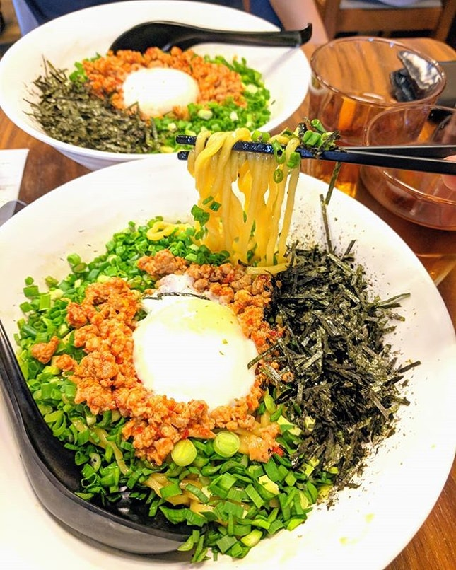 I'm a spring onion fan so I can't pass up some mazesoba 🤭 I also love dry noodles like gao ji Yong Tau Fu so this really is the dish for me!