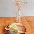 White chocolate Matcha tart ($7)
