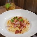 Spaghetti Carbonara ($20) 🍝 7/10