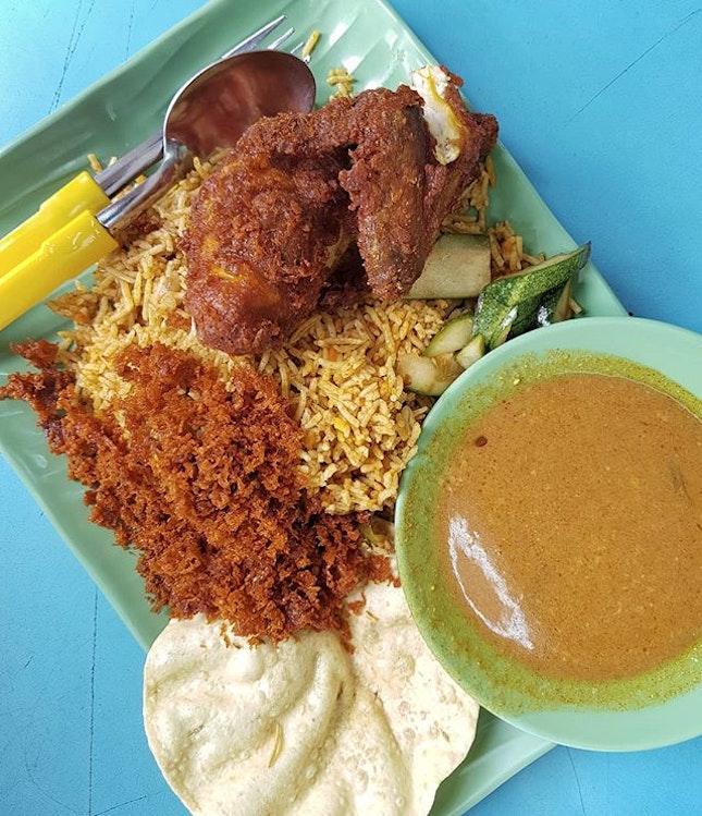 Fried Chicken Biryani (SGD 6)  Hands down one of the best biryani places in Singapore.