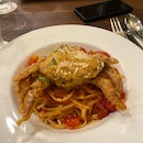 Soft Shell Crab Linguine ($22.90++)