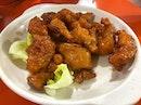 I love my sticky crispy honey chicken.