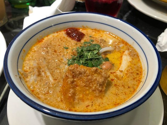 Always looking out for a delicious, thick and creamy bowl of laksa.