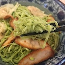 """Pandan mee set from @hosengkee @jbcitysquare """"QQ"""" noodles with Super affordable pricing 😁 ."""