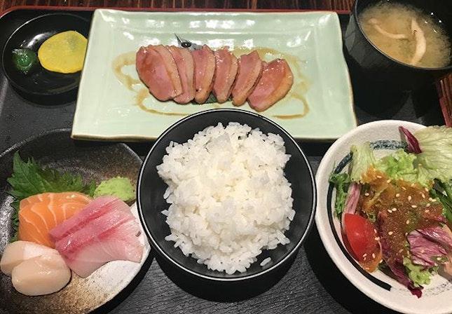Lunch set at Bushido, MBFC.