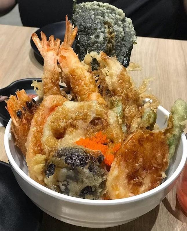 A filling and #yummy bowl of Tendon from @koganeyamasg @bugisjunctionxbugisplus .