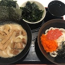 Black Garlic Tonkutsu Udon and Triple egg udon @tamoyasg We always enjoy the #noodles here + it's affordable!