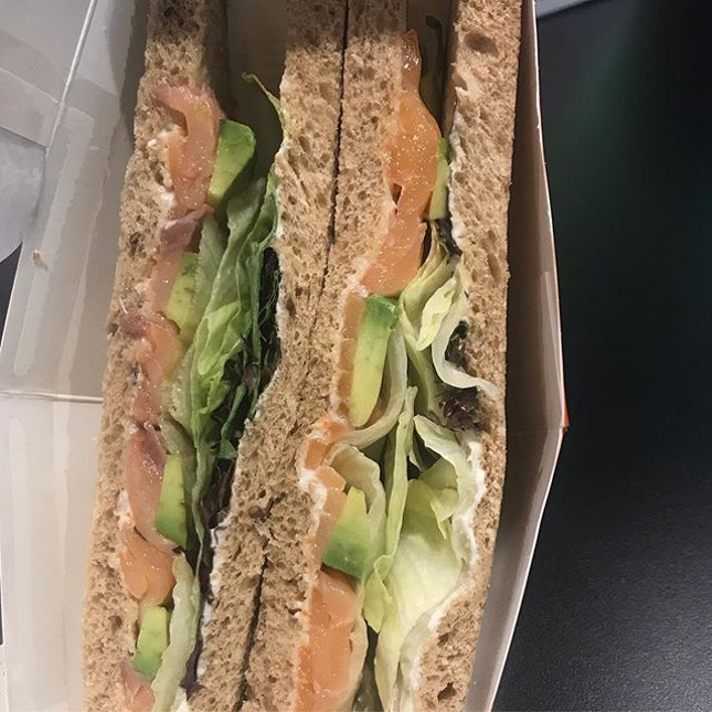 Salmon avocado sandwich for lunch yesterday from @thesandwichshopsg .