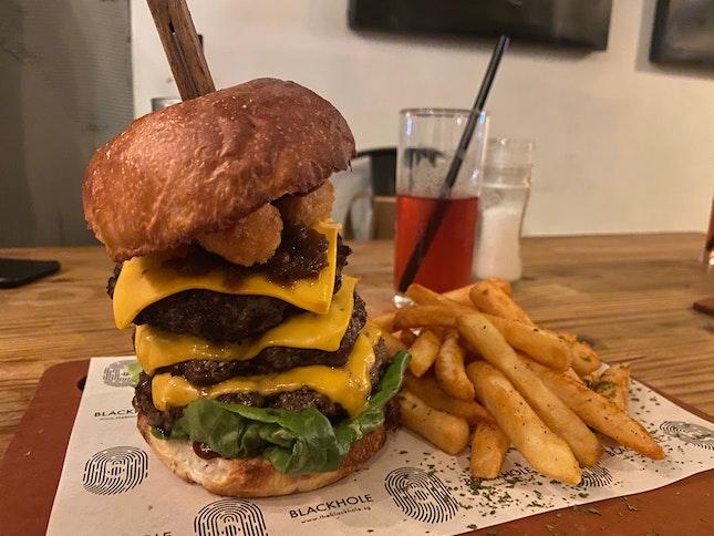 (1 For 1 beyond) Massive Patties Burger $23.90