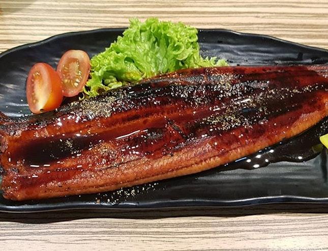 Level 5 Sushi place  This large Unagi rice set is around $24.