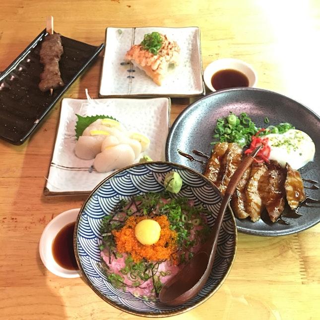 Fresh quality food done by the folks at SHUKUU IZAKAYA
