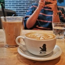 Hot And Cold White Coffee With Hokkaido Milk