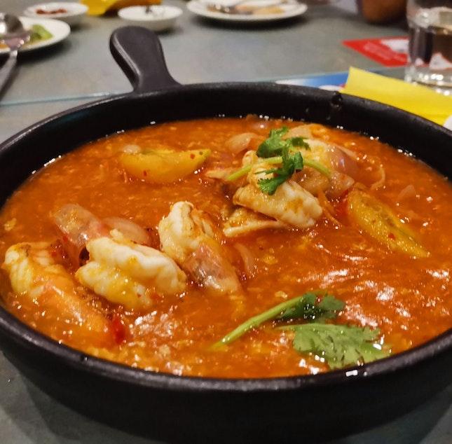 Chilli Prawns With Chilli Crab Sauce