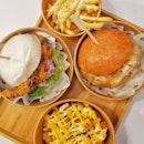 Bao Burger And Cheesy Tater Tots