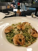 Linguine Pesto Prawn