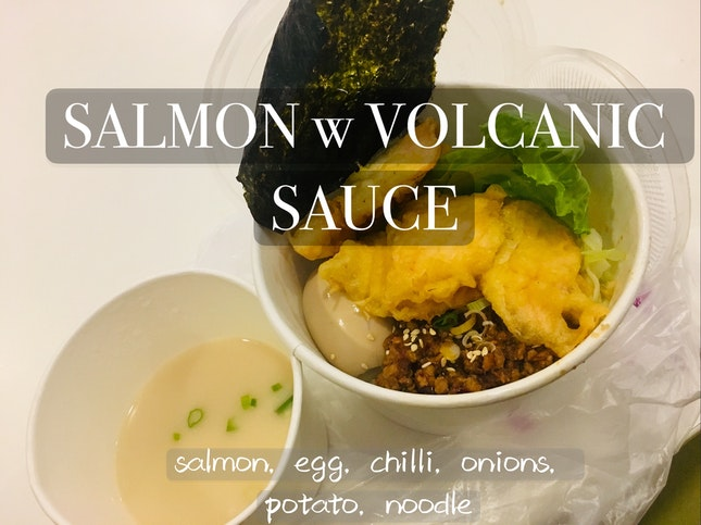 Salmon w Volcanic Sauce