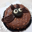 Starbucks Halloween! A Bat-ter Chocolate Almond Cake