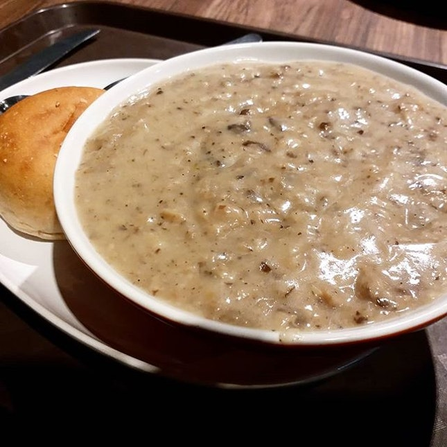 Velvety mushroom soup from The Soup Spoon!