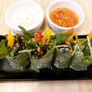 Griled beef summer rolls from So Pho!