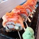 Aburi Mentai Salmon roll from Kazoku!