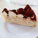 Tiramisu Mille Crepe from Nadeje Cafe in Malacca!