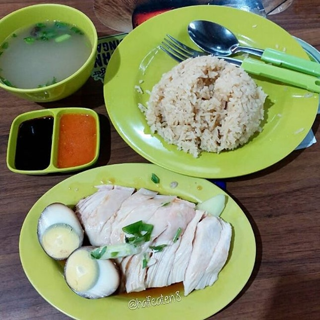 Chicken rice from Balestier Market!