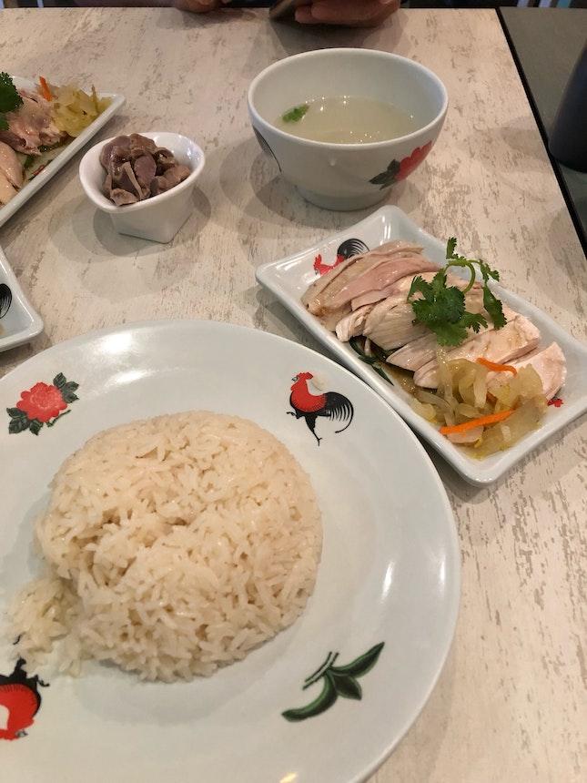 Decent chicken rice