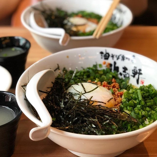 finally got to try the first mazesoba shop in singapore!