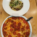 Chinese Sausage Pasta And Pepperoni Pizza