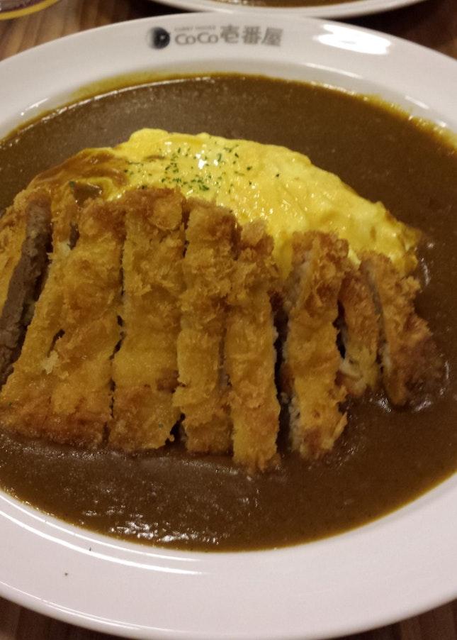 Pork Katsu Curry Omurice